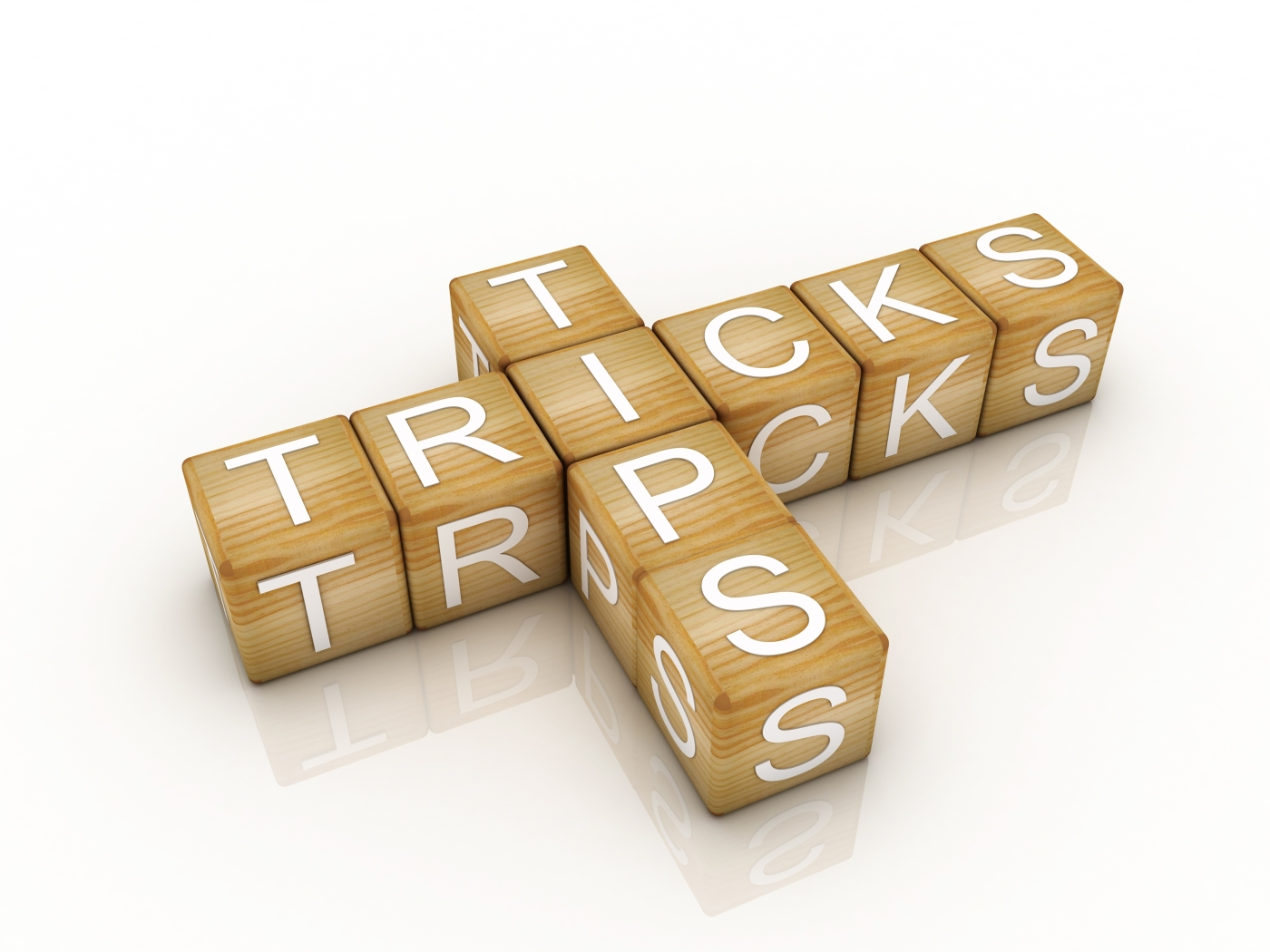 Image of wooden blocks reading 'Tips and tricks'
