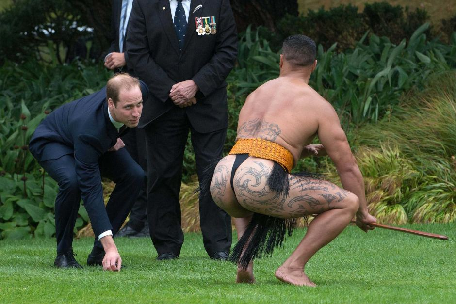 Picture of Prince Wiliam on royal tour in New Zealand