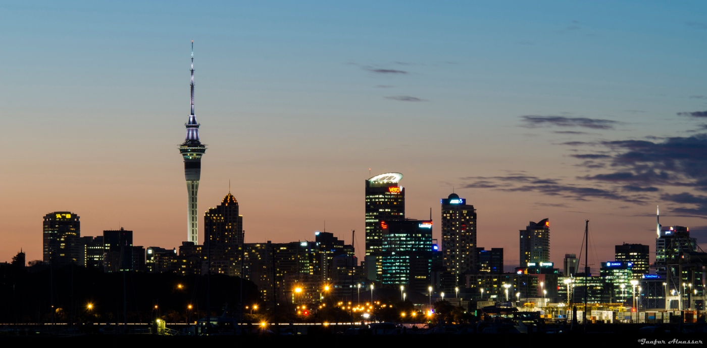 Picture of the Auckland skyline at dusk