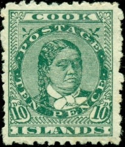 Old stamp from the Cook Islands