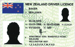 Front of a driver's licence