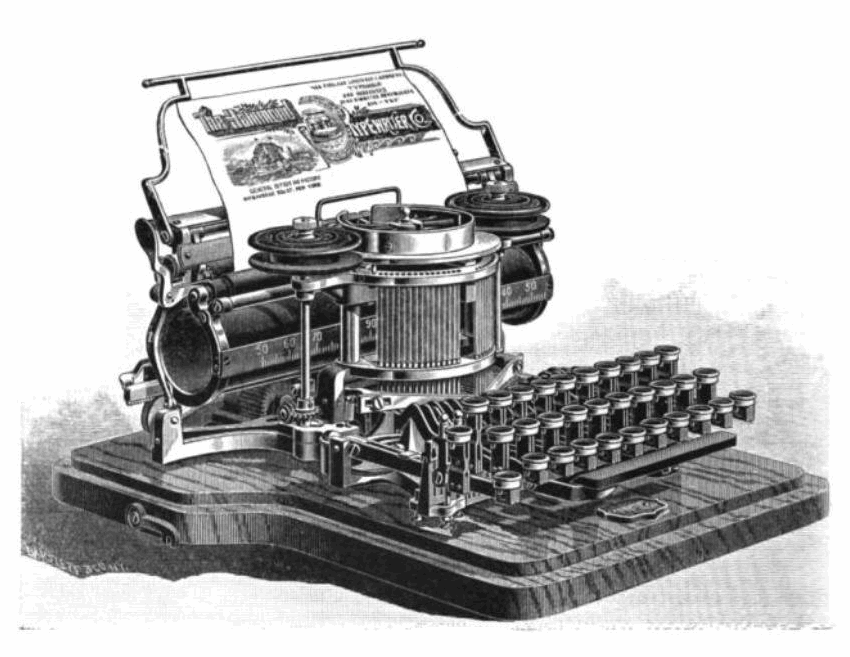Picture of an old typewriter