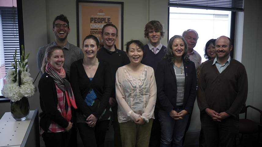Photo of the staff members of The Translation Service