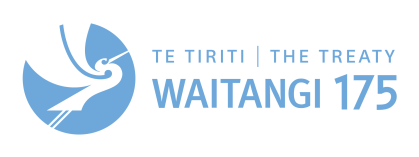 Logo of the 175th Waitangi Day celebrations