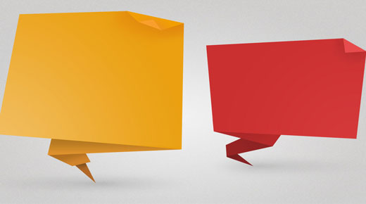 Image of two speech bubbles
